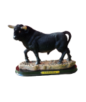 toro resina con peana y placa de España