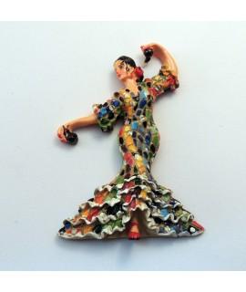 Iman bailaora mosaico multicolor