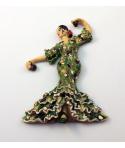 Imán bailaora mosaico  color verde