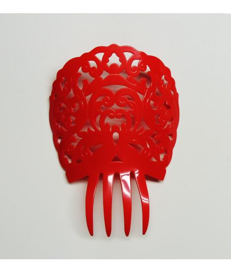 Peineta roja de plástico
