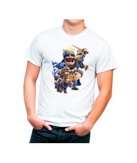 CAMISETA REY AZUL CLASH ROYALE ADULTO BLANCA