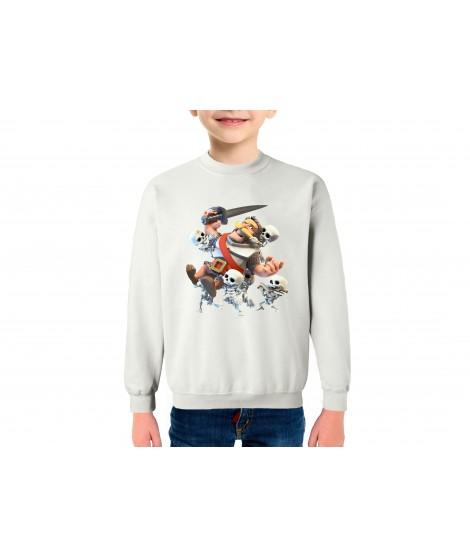 Esqueleto  Royale sudadera infantil algodón