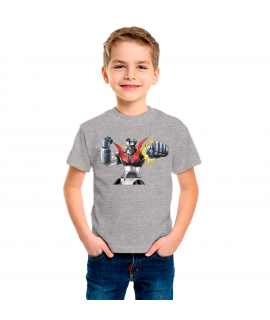 Mazinger Z camiseta color gris