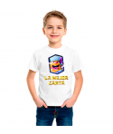 Camiseta Leñador Carta Clash Royale infantil manga corta color blanco