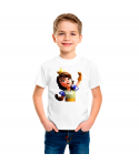 Camiseta Princesa Carta Clash Royale infantil manga corta color blanco