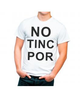 No Tinc Por Camiseta Adulto color blanco