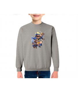Principe Azul sudadera infantil algodón Color Gris-Mezcla