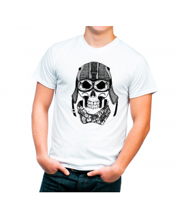 Camiseta Cráneo Vintage Motero