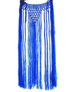 Gargantilla de flecos azul