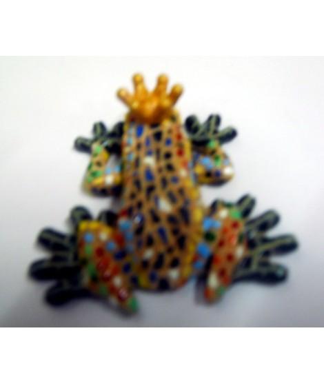 Imán mosaico multicolor rana reina