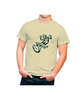 Camiseta algodón orgánico con dibujo salamandra