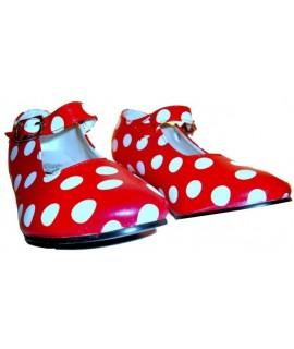 Zapato de sevillanas rojo lunares blancos