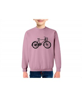 Bicicleta retro sudadera infantil algodón