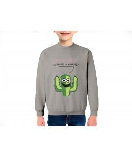 Cactus gracioso sudadera infantil algodón
