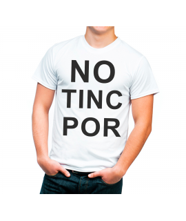 No Tinc Por Camiseta Adulto color blanco