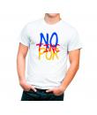 No Tinc Por Diseño en colores Camiseta Adulto color blanco