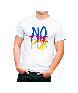 No Tinc Por Diseño en colores Camiseta Adulto color blanco