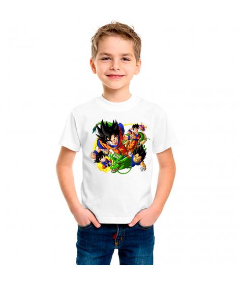 Camiseta Dragón BZ varios personajes infantil manga corta