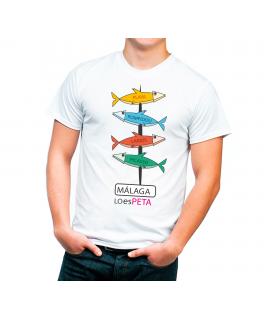 Camiseta Málaga Espeto Sardinas Señal de Monumentos