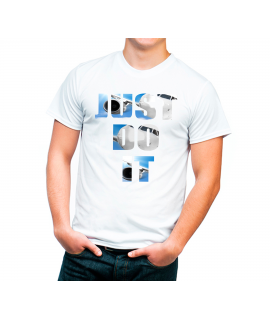 Camiseta lema Just Do It Color Blanca