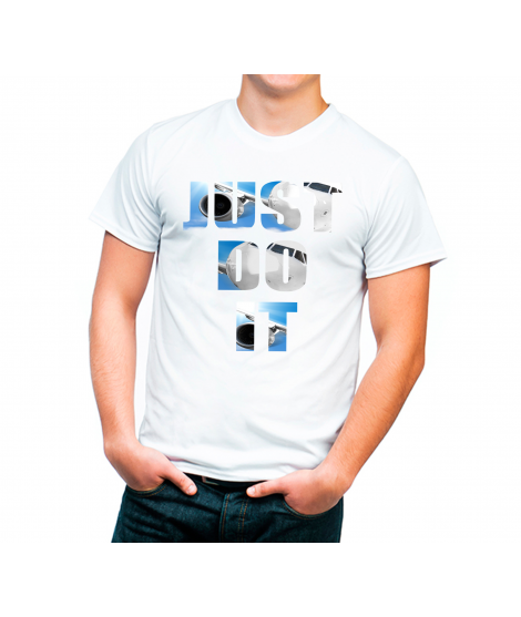 Camiseta lema Just Do It Color Blanca