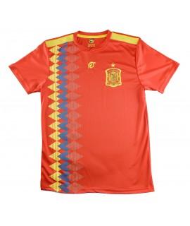 Camiseta Aspas Réplica de España. Producto Oficial Licenciado Mundial Rusia 2018. Tallas Ajustadas, Consultar Medidas.
