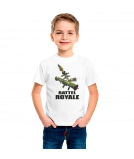 Camiseta Dibujo Battle Royale Armas Camiseta Infantil