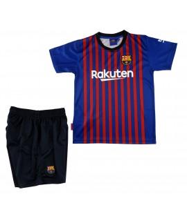 Kit Primera Equipación Infantil Sin Dorsal del FC Barcelona Producto Oficial Licenciado Temporada 2018-19