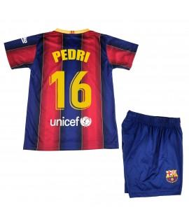 Kit Primera Equipación Infantil Pedri del FC Barcelona Producto Oficial Licenciado Temporada 2020-21