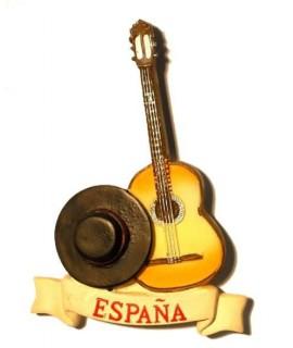 Guitarra y sombrero