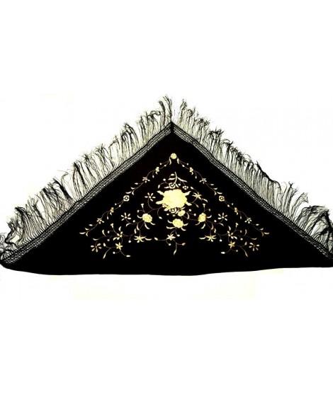 Manton negro bordados dorados