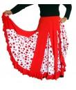Falda roja con nesga