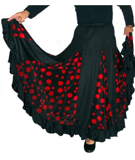 Falda negra con nesga